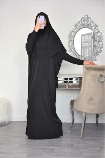 Tenue de prière femme 1m80/85 hijab intégré Zeyneb