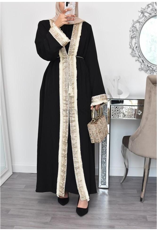 modest long kimono abaya