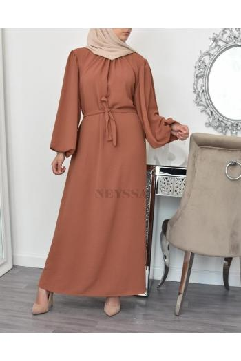 longue robe abaya fluide Yumna