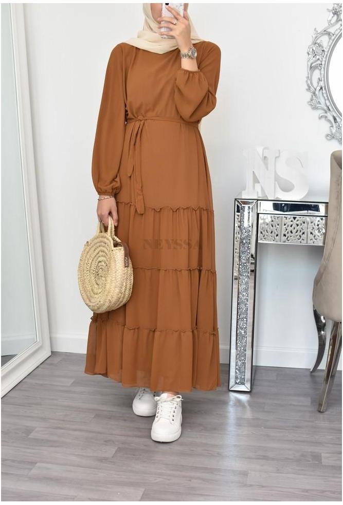 robe longue mousseline bohème
