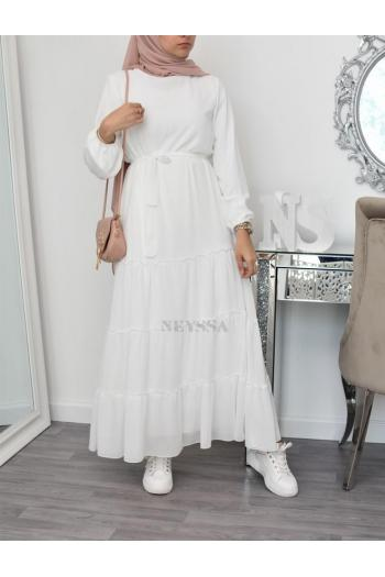 Flared long bohem dress