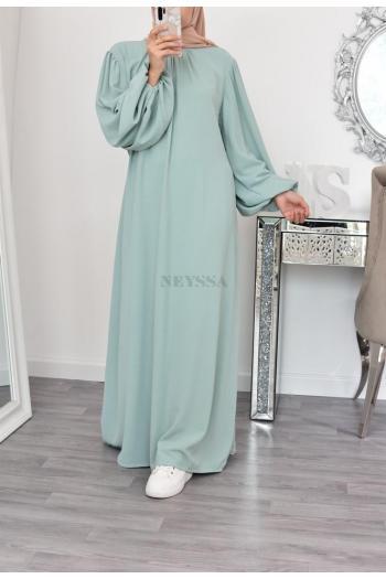 longue robe abaya fluide