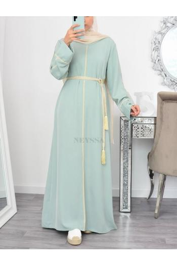 Dress Abaya Beiyah with golden edging