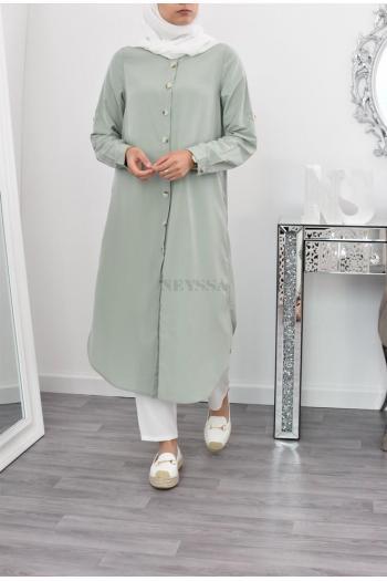 maxi tunic hijabi veiled