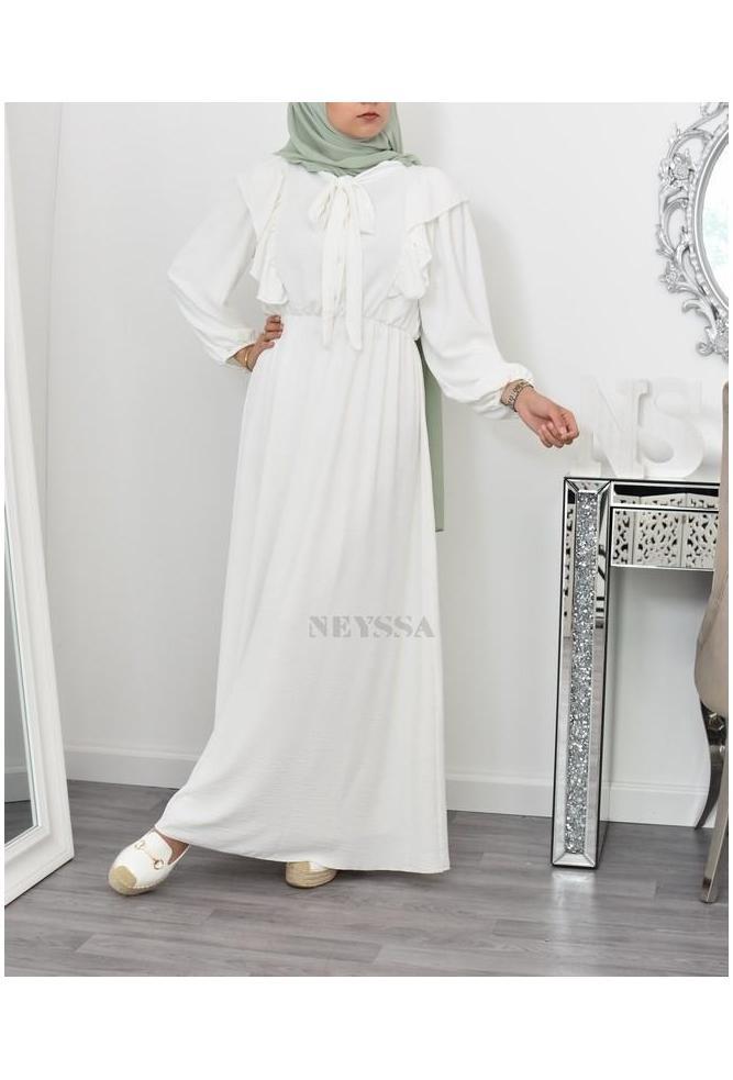 Robe longue bohème femme musulmane