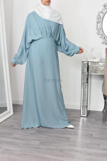 Abaya Dubaï nidah lux vert eau