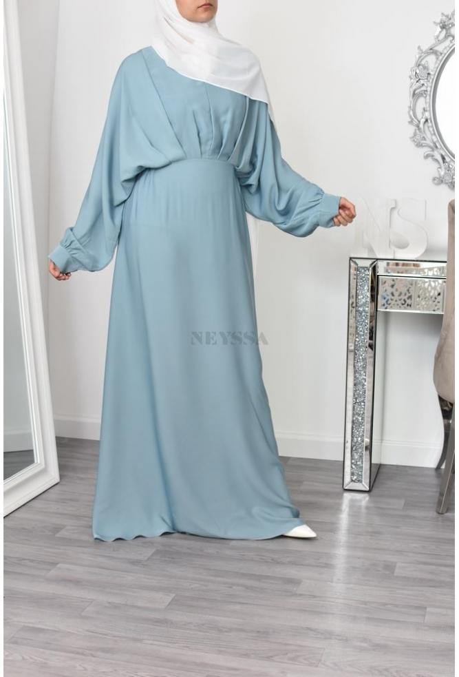 Abaya dubaï Narjis light green