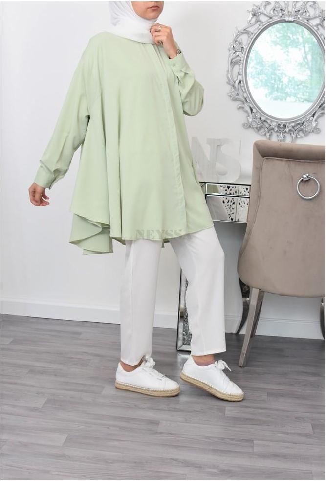 Tunique cloche oversize modest fashion
