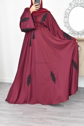 Abaya Kamiliane Burgundy
