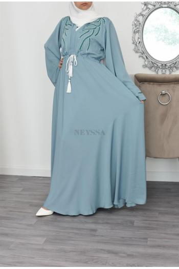 umbrella light green abaya