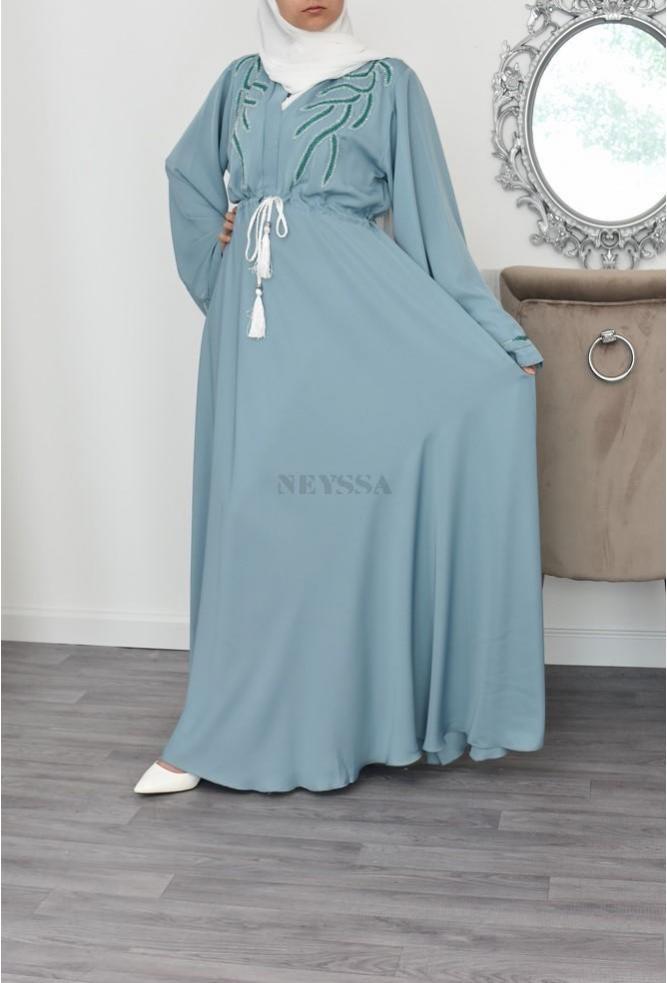 umbrella light green abaya