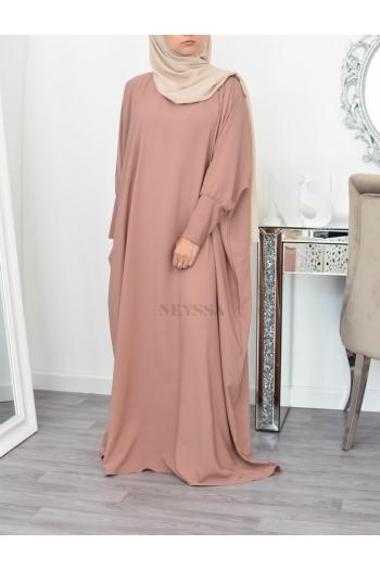 Robe abaya longue papillon fluide
