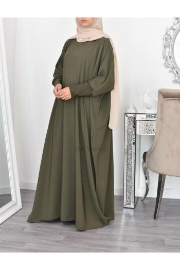 Robe abaya papillon fluide