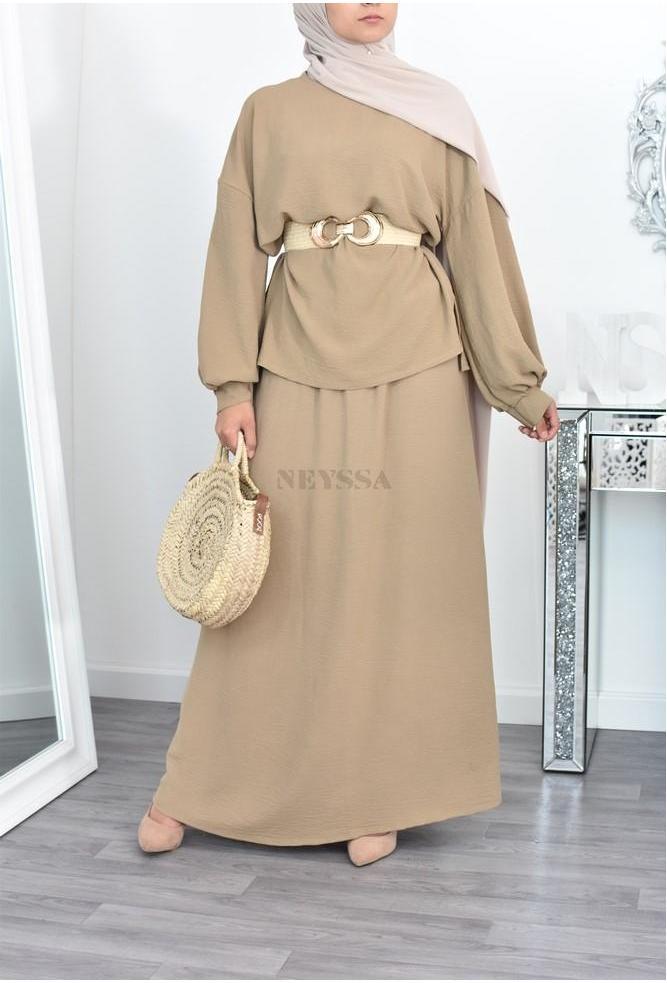 Maxi skirt summer suit