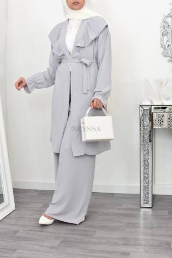 Ensemble hijab Kimono/Pantalon