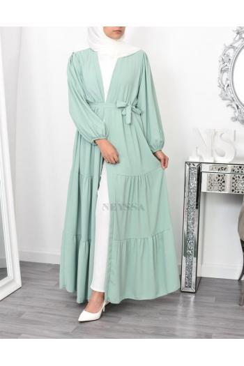 long Kimono fluide Bohème hijabi