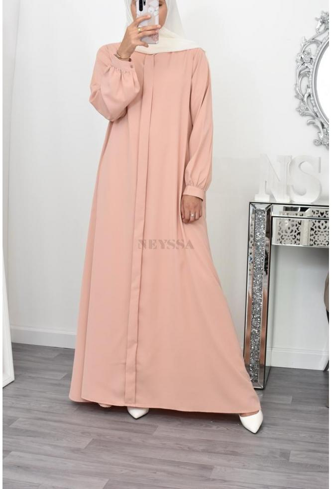 longue robe abaya fluide pas cher