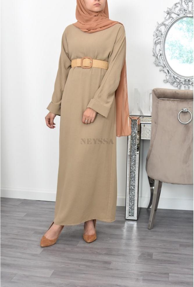Robe longue droite femme voilée Esme