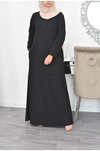 Abaya longue femme voilée