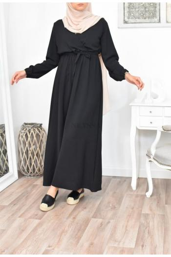 robe longue fluide cache coeur femme musulmane