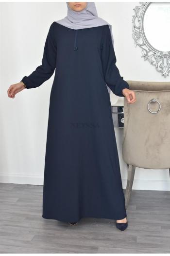abaya longue évasée Dulux Zip