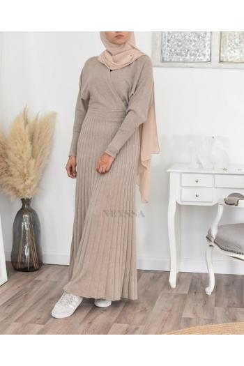 long dress wool hijab fashion