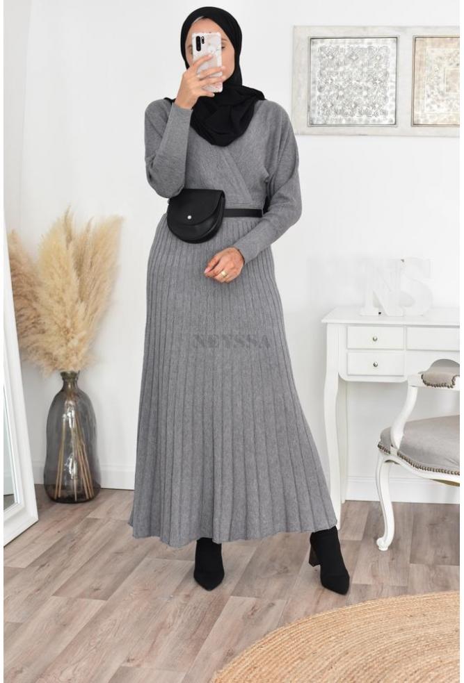 long dress wool hijab fashion