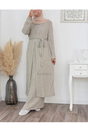 Ensemble tricot robe longue hiver pas cher