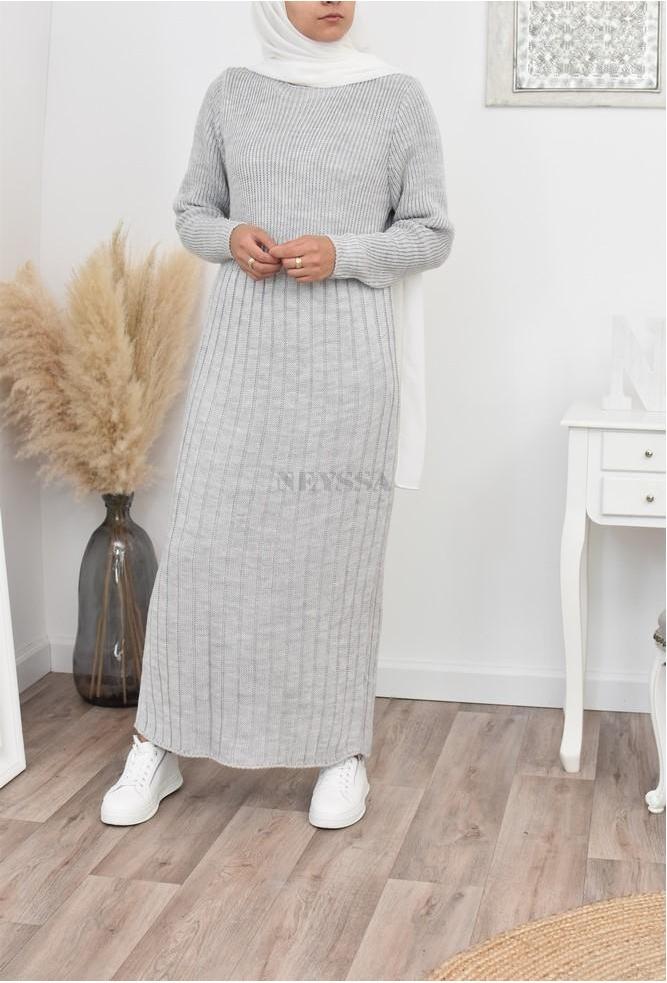 Robe Pull longue hiver femme musulmane
