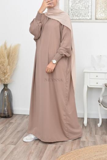 abaya papillon longue noire