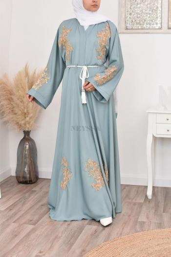 "Abaya ""Dubaï Umbrella"" Green"