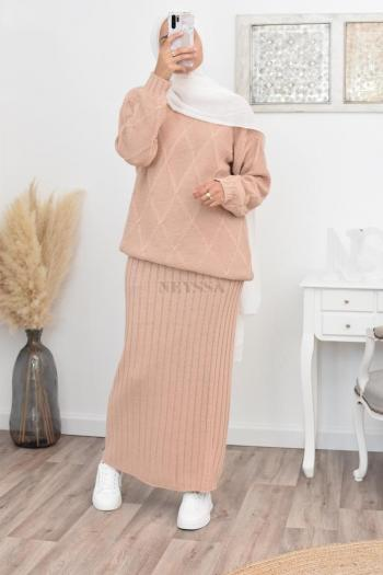 Set tunic and skirt hijaber