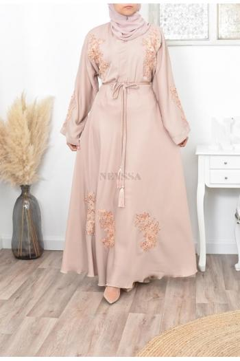 Abaya Dubaï Umbrella ROSE