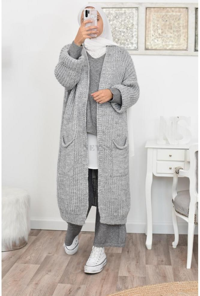Cardigan long grande taille Oversize hiver