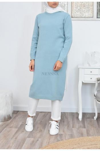 Pull long en laine femme musulmane