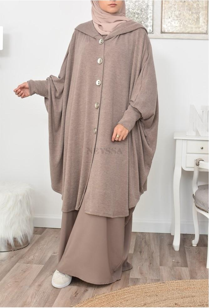 Cape laine Papillon pour Jilbab pas cher