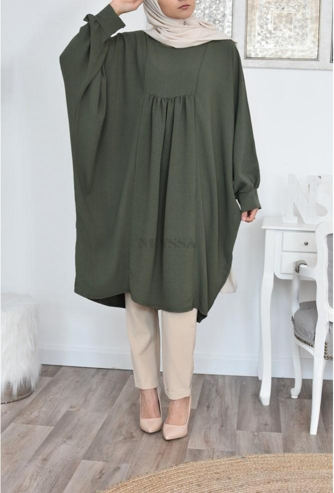 Tunique longue grande taille hijab