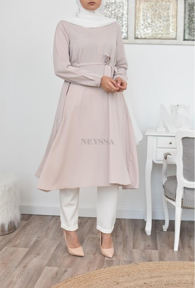 Robe tunique évasée fluide pas cher