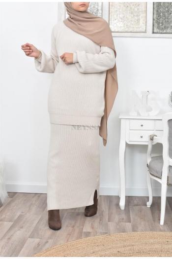 Set tunic and skirt women veiled