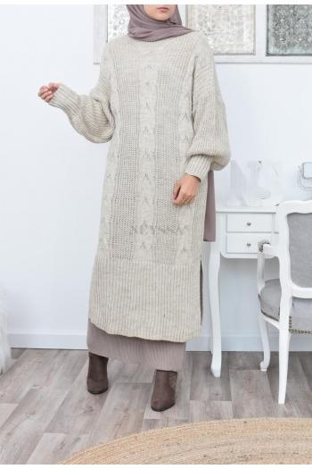 Robe Pull longue femme musulmane