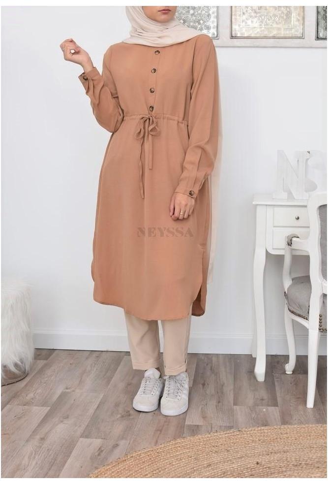 Tunique extra longue femme musulmane