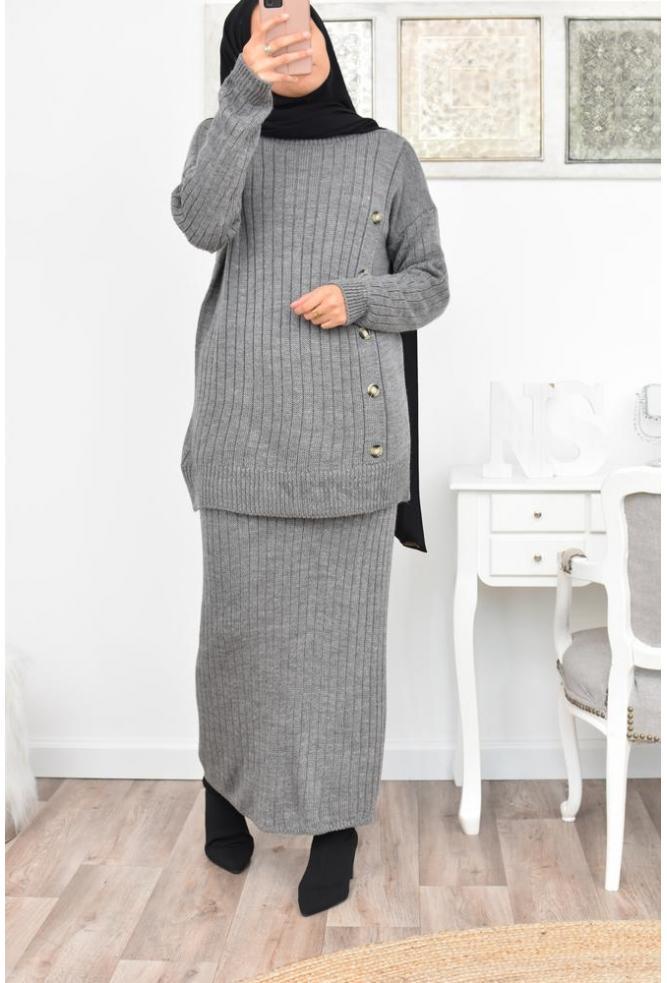 Ensemble en laine mastour femme Hijabi