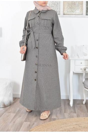 Dress on button-down mastour long shirt