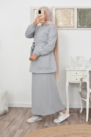 modest fashion Set tunic and skirt