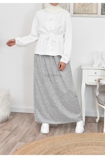 Jupe longue large en laine