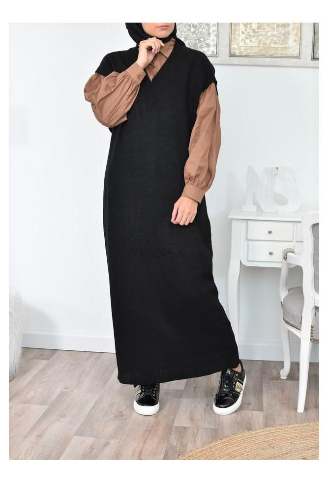 Robe pull longue Sans manches