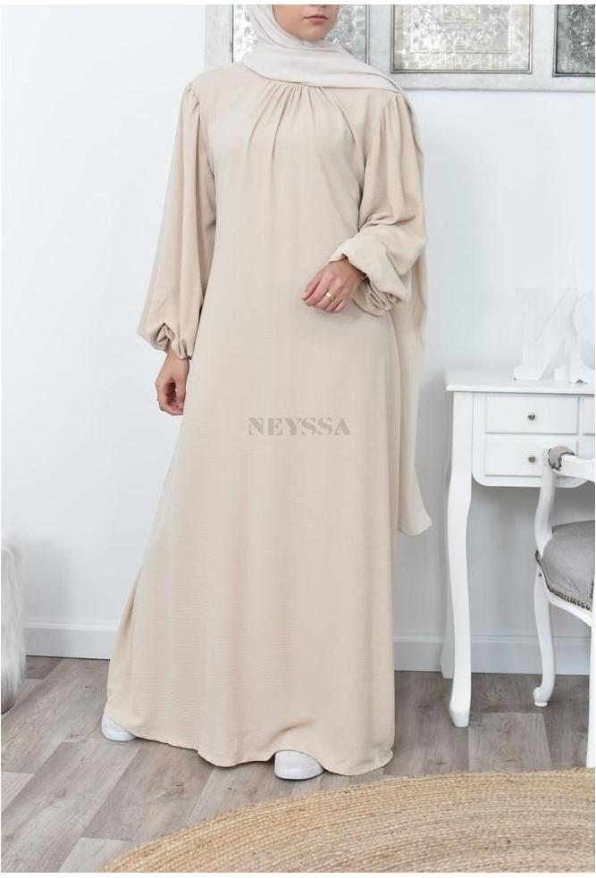 long flared abaya dress