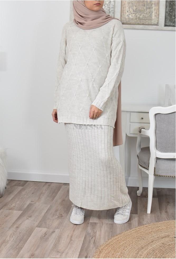 Ensemble tricot hijabi pas cher