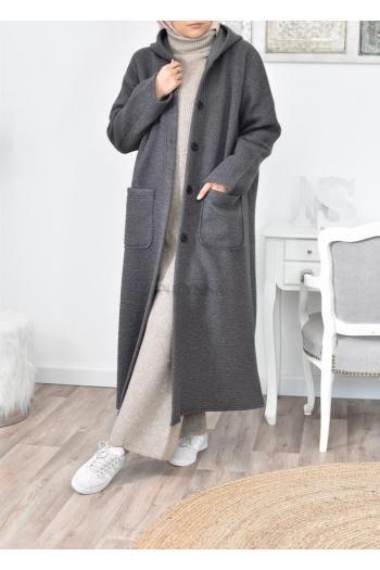 Manteau long femme voilée pas cher