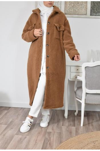 manteau long polaire epaisse hiver